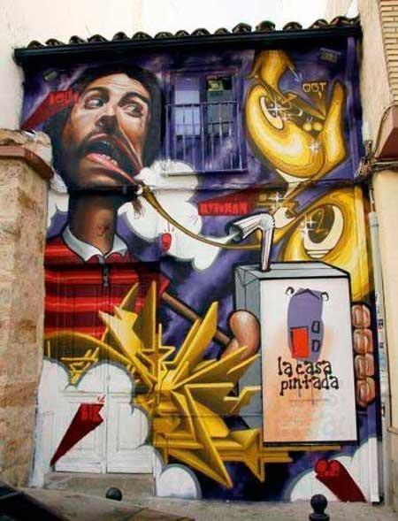 20-fotos-e-ideas-colores-fachadas-casas-exteriores-fachada-con-un-graffitti