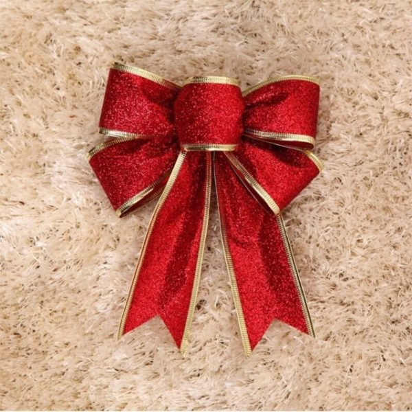 arboles-de-navidad-con-lazos-rojos