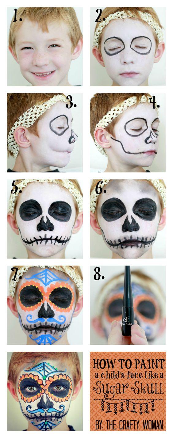 maquillaje-halloween-nino-calavera-mexicana-paso-a-paso