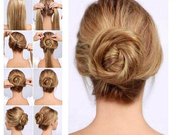 20-peinados-fáciles-y-rápidos-moño-bajo-sencillo