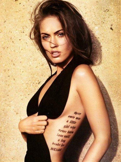 Tatuajes de Megan Fox