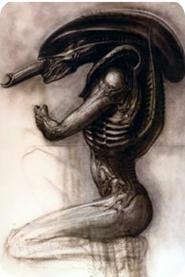 Primer diseño de Giger para la película de Alien 1979