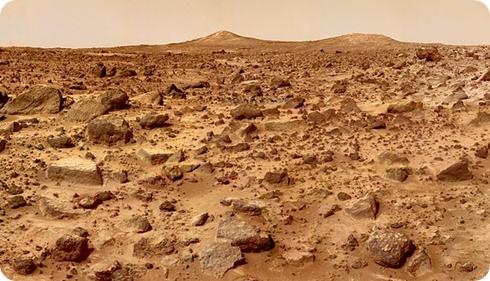 Foto de la superficie marciana tomada por el Sojourner