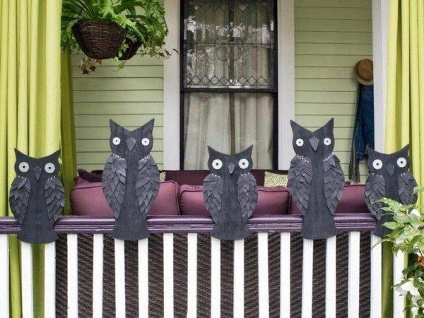 decoracion-halloween-buhos-carton-color-negro