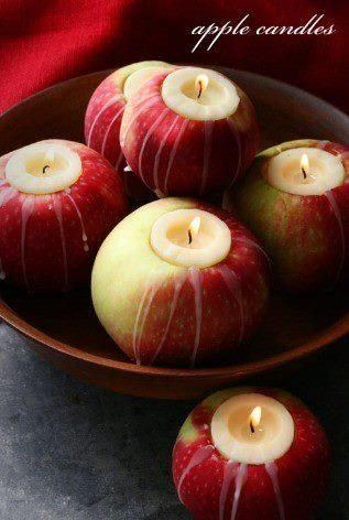 decoracion-mesa-halloween-velas-manzanas
