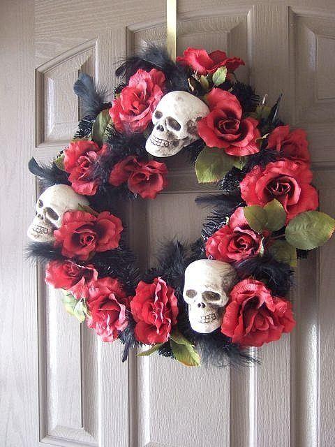 decoracion-puertas-halloween-esqueleto-corona