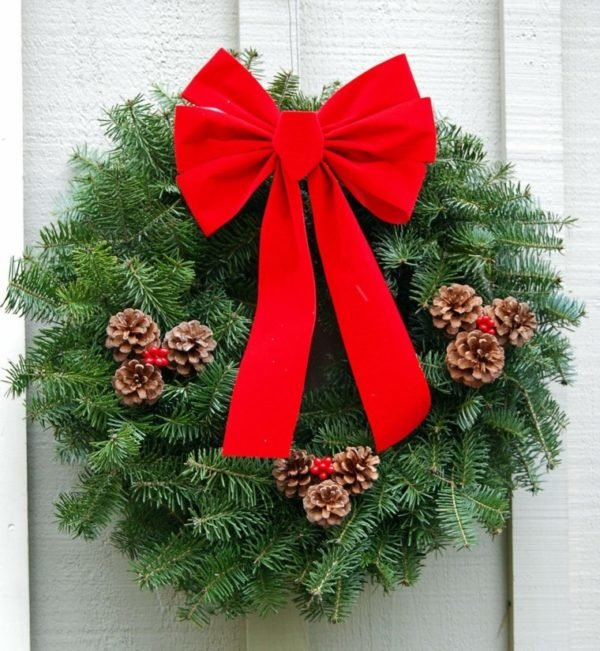 coronas-de-navidad-lazo-rojo