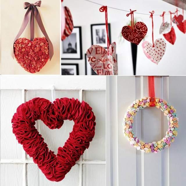 decoracion-san-valentin-para-el-salon-coronas-de-corazon