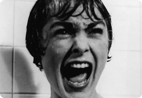 Miedo, en la película Psicosis