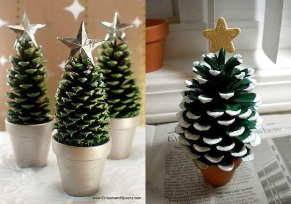 arbol-de-navidad-reciclado-con-pinas-640x448