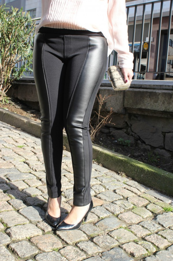 como-combinar-leggings-de-cuero