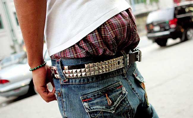 Pantalones bajados