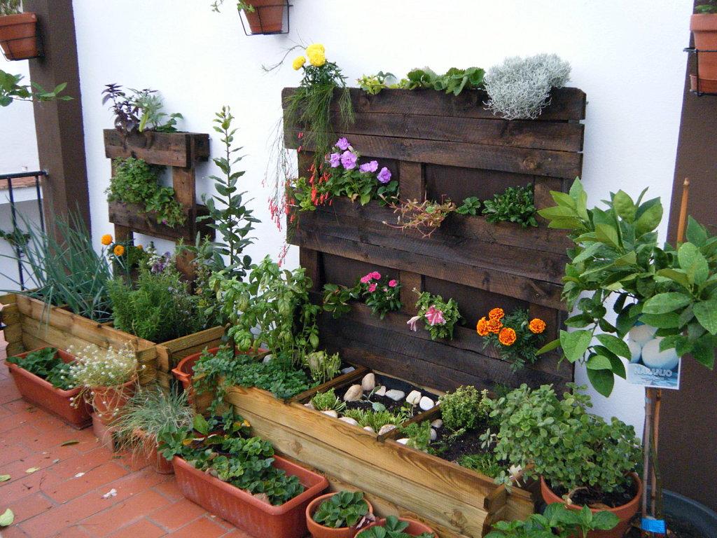 jardin pales macetas