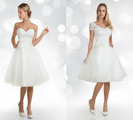 Los vestidos de novia cortos 2018