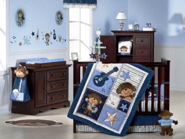 colores-para-cuartos-de-bebes-recien-nacidos-color-azul-muebles-en-marron