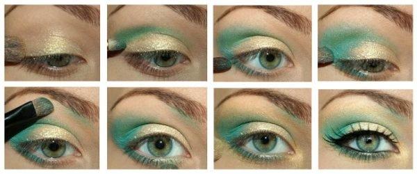 como-maquillar-ojos-verdes-verde-purpurina