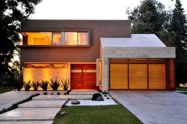 fachadas-de-las-casas-más-bonitas-y-modernas-casa-marron-claro