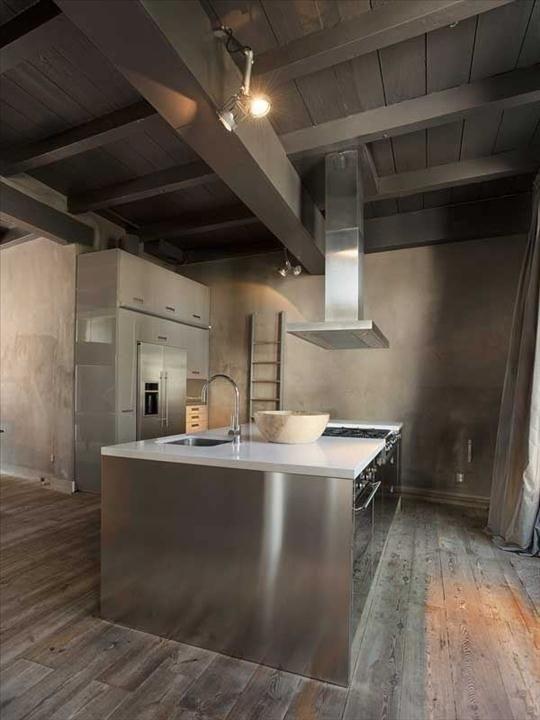cocina-rustica-moderna-acero