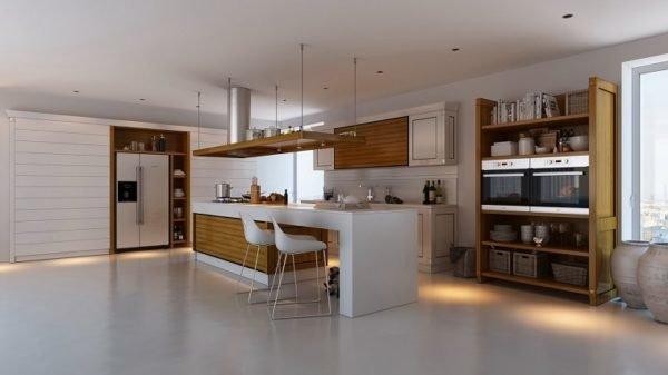 cocinas-con-isla-blanca-y-madera