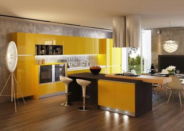 cocinas-con-isla-de-colores-amarillo