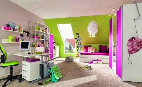 colores-para-cuartos-juvenil-lila-verde