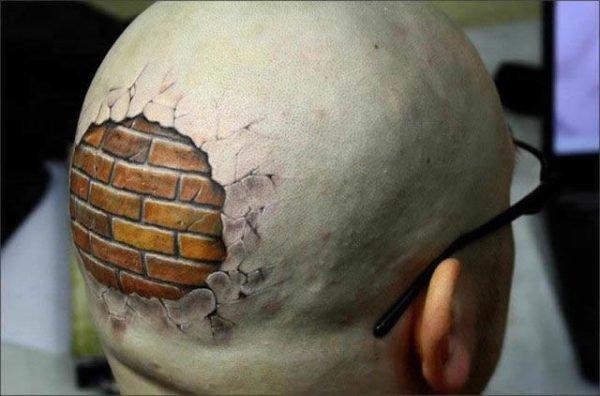 los-mejores-tatuajes-bonitos-tatuaje-3d-muro-calvo