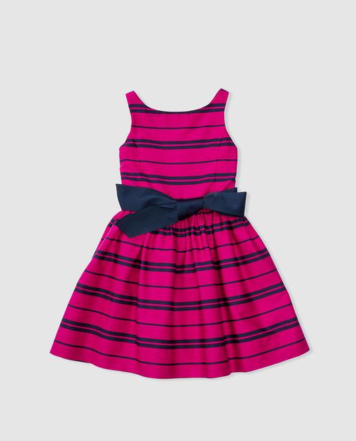 vestidos-de-fiesta-de-niña-otoño-invierno-2017-rayas-rosa