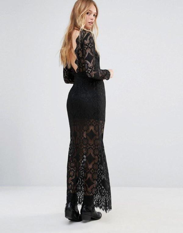 vestidos-de-fiesta-largos-otoño-invierno-2017-negro-encaje