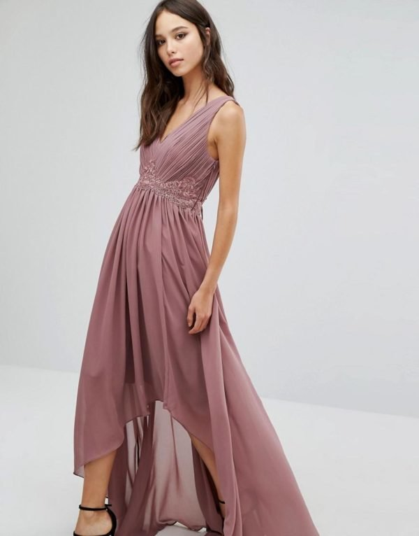 vestidos-de-fiesta-largos-otoño-invierno-2017-rosa-asimetrico