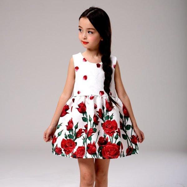 vestidos-de-fiesta-para-niñas-rosas-rojas