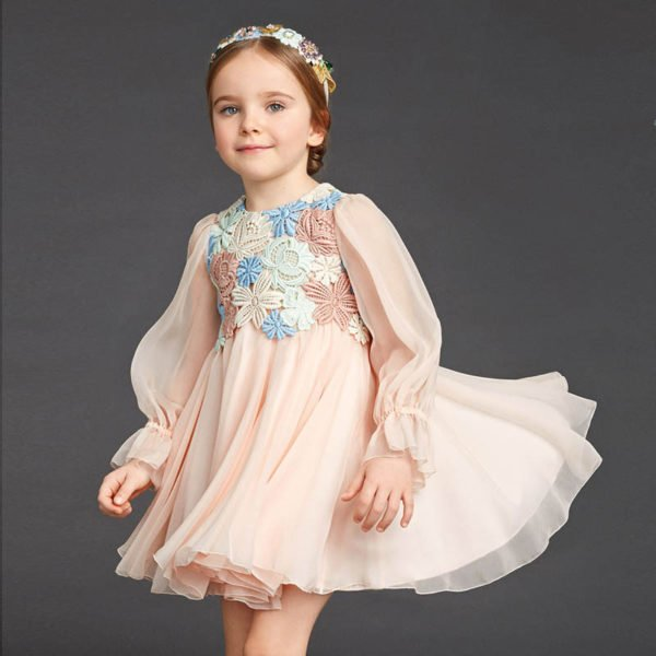 vestidos-de-fiesta-para-niñas-vintage-con-tul