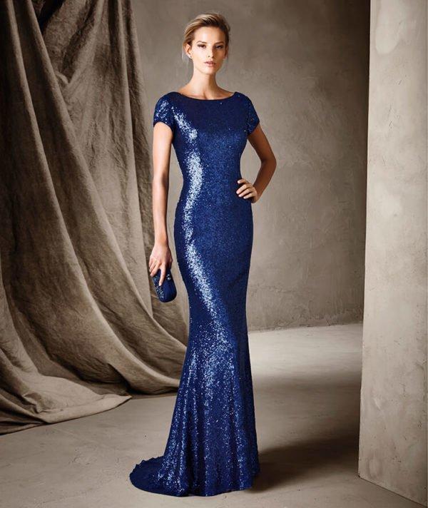 vestidos-de-fiesta-pronovias-azul-brillos