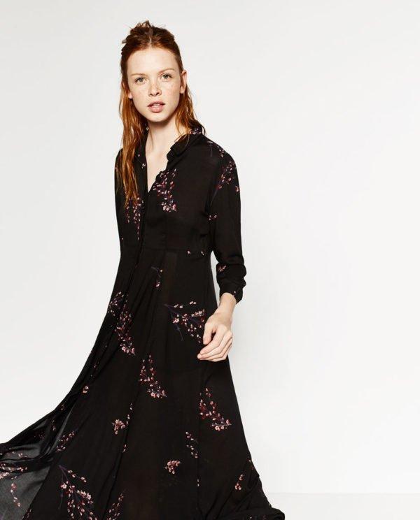 vestidos-de-fiesta-zara-otono-invierno-2017-largo-estampado-negro