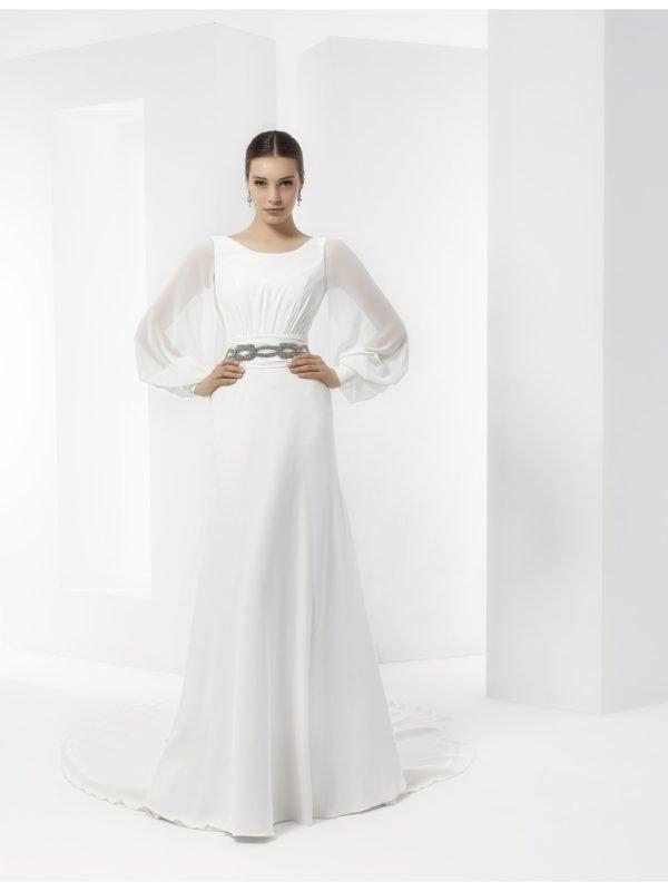 vestidos-de-novia-manga-larga-puños-ceñidos