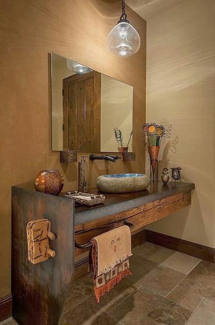 baños-rusticos-de-piedra-lavamanos