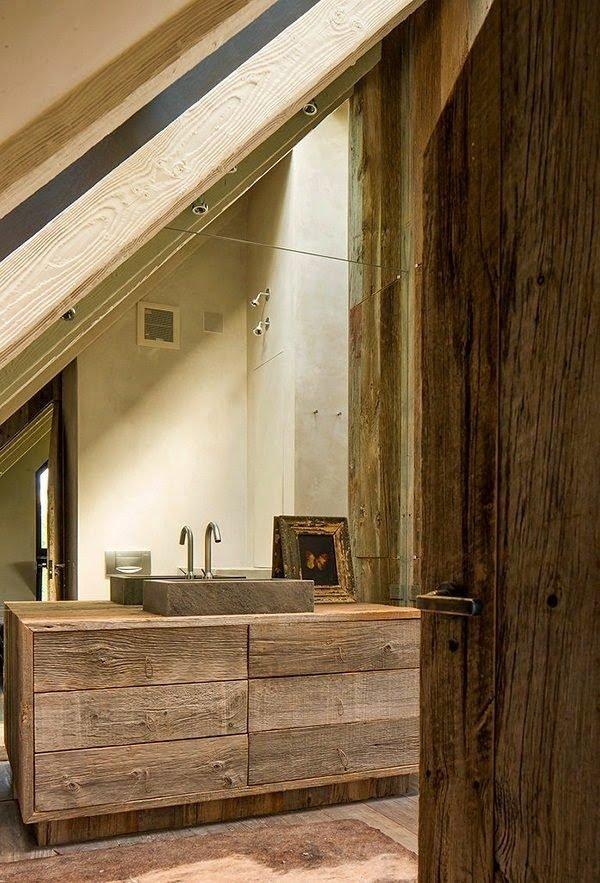 baños-rusticos-de-piedra-y-madera-lavamanos