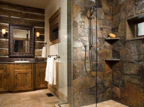 baños-rusticos-modernos-ducha