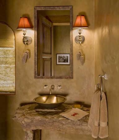 baños-rusticos-pequeños-espejo-de-madera