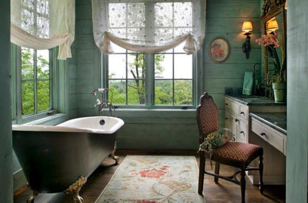 baños-rusticos-vintage-bañera