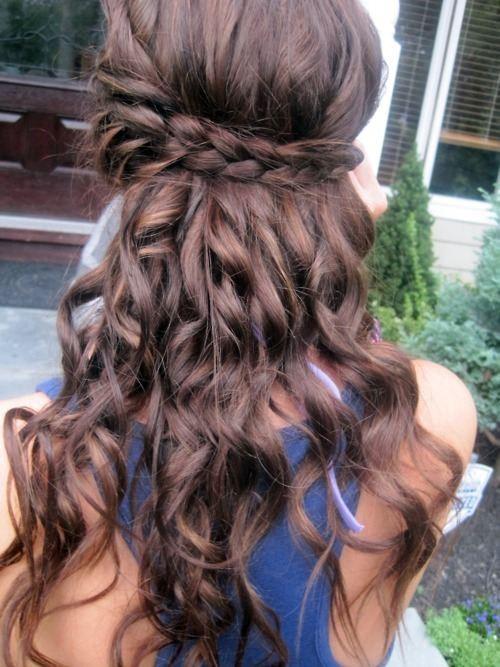 peinados-con-ondas-trenza