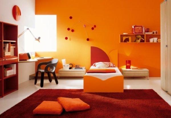 colores-para-cuartos-juveniles-nina-naranja