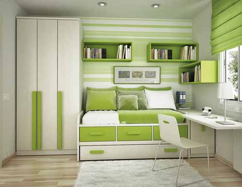 colores-para-cuartos-juveniles-verde y blanco