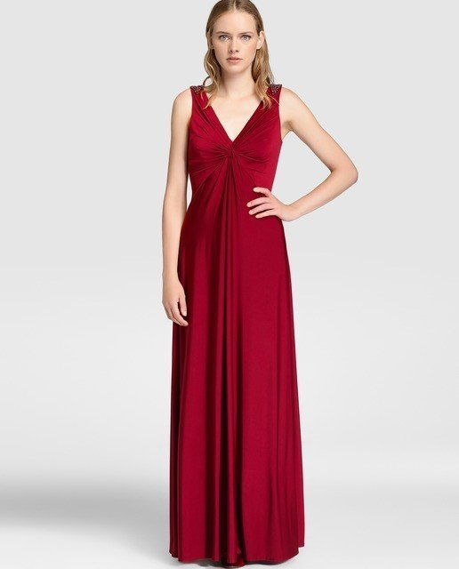 vestidos-de-fiesta-el-corte-ingles-otoño-invierno-rojo-vino
