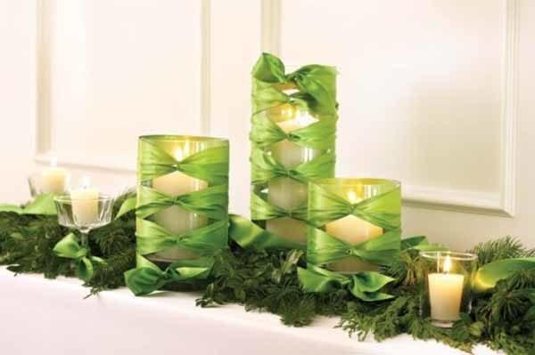 centros-de-mesa-navidenos-velas-verdes