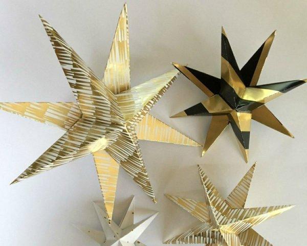 estrellas-de-navidad-doradas-y-negras