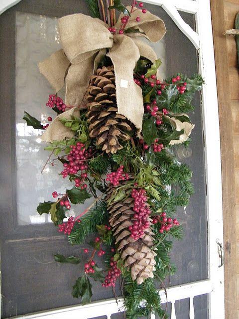 lazos-de-navidad-adorno-puerta