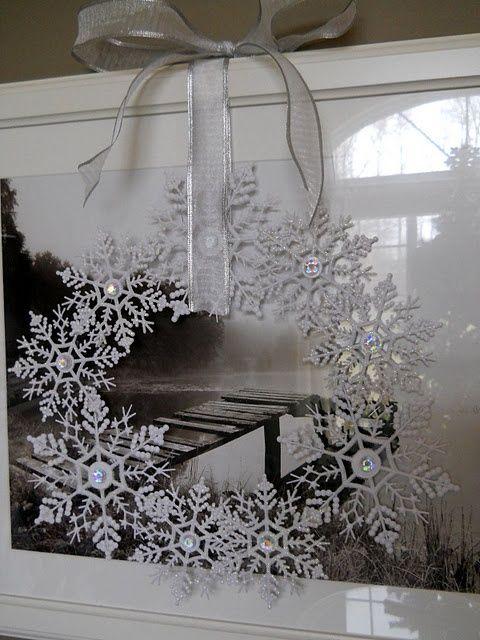 lazos-de-navidad-corona-navidad-nieve
