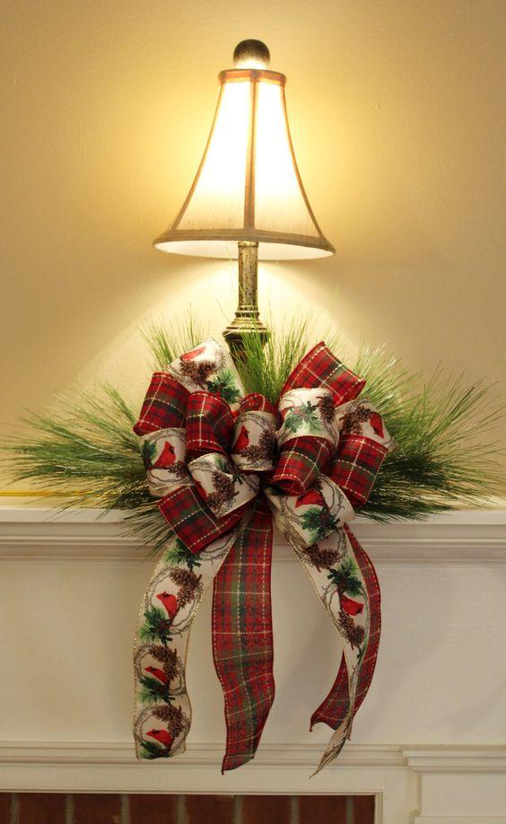 lazos-de-navidad-lampara