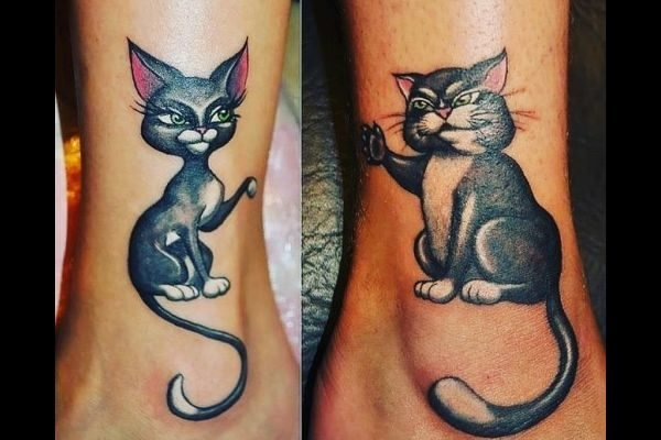 los-mejores-tatuajes-pequenos-mujeres-amigas-gatos