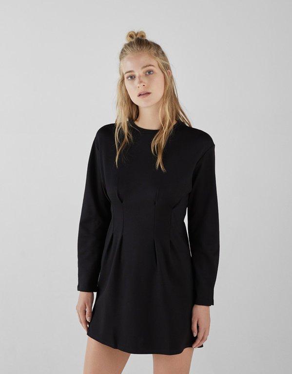 bershka-vestidos-corto-con-pinzas